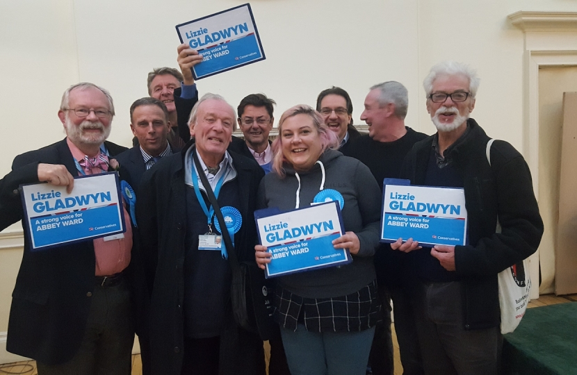 Lizzie wins for the Conservatives in Bath!